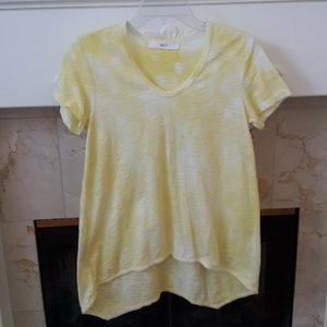 Wilt Yellow Shrunken Boyfriend Short Sleeve Top